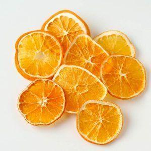 Naranjas deshidratadas con concha, 100% naturales.